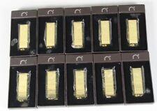 10x Goldbarren Feuerzeug - Gasfeuerzeug mit Geschenk Box in Leder Optik  /S212