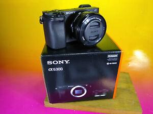 Sony Alpha a6300 24.2MP w/16-50mm bundle kit bag spare batteries digital camera