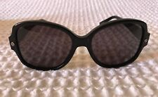 LANVIN BLACK WITH CRYSTAL TRIM Sunglasses Never Worn In Excellent Condition