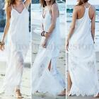 Plus S-5XL Zanzea Women Beach Sundress Split Cocktail Evening Long Maxi Dress