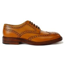 New Loake Mens Chester Tan 2 Burnished Tan shoes Size 9F RRP £225.00