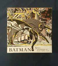 New listing Batman 3 pc. Melamine Dinnerware set
