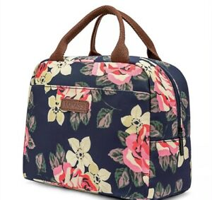 Insulated Lunch Bag Picnic Thermal Box Tote For Women & Men Kids Adults Flower