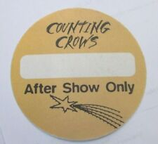Counting Crows Backstage Pass Original Unused Collectible Rare Rock