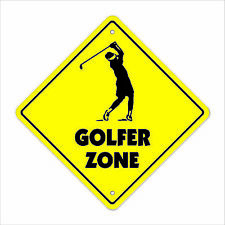 Golfer Crossing Decal Zone Xing new golf clubs balls bag sport love play