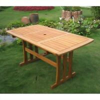 Pemberly Row Rectangular Outdoor Patio Dining Table