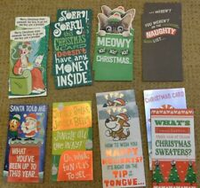 New ListingChristmas cards money holders with envelope Lot of 14 greeting holiday Funny