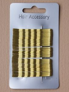 Box of 36 Gold Blonde Kirby Grips. 4.5cm