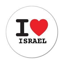 I love ISRAEL - Aufkleber Sticker Decal - 6cm