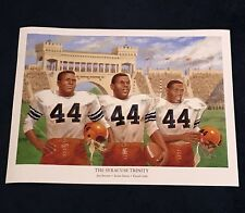 Jim Brown Ernie Davis Floyd Little Syracuse Football 44 Lithograph Stunning!