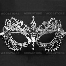 Sexy Rhinestones Masquerade Mask Women Laser Cut Princess Mask Mardi Gras Party