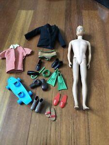 Vintage Fuzzy Hair Mattel Ken Doll 1960  MCMLX PATS Pend  lot