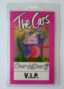 The Cars VIP Backstage Pass Original New Wave Music Concert Tour Ric Ocasek 1989