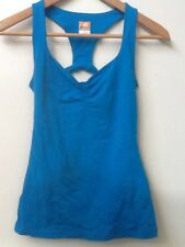 LUCY Powermax Athletic Yoga Tank Top Blue Racerback Built in Bra XS Extra Small