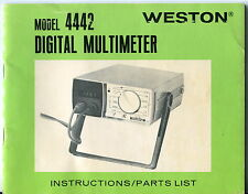 "1973 Vintage Owners Manual: ""Weston Model 4442 Digital Multimeter"""