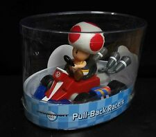 """Super Mario Bros Toad Pull Back Racer Car figure car about 5""""/12cm long"""