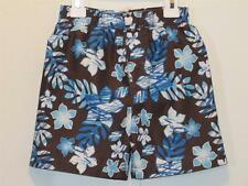 New Boys Mick Mack Brown & Blue Tropical Palms Beach Swim Trunks 24 Months UPF50