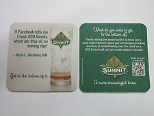 Beer Coaster: SUMMIT Brewing Co ~ Where's My 500 Facebook Friends on Moving Day?