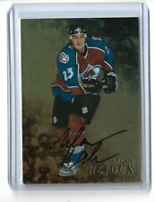 1998-99 BE A PLAYER AUTOGRAPHS GOLD #187 MILAN HEJDUK ITG AVALANCHE