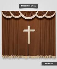 Saaria Church Curtain/Stage Backdrop/School Event Hall Curtains 12'W x 8'H CHX1