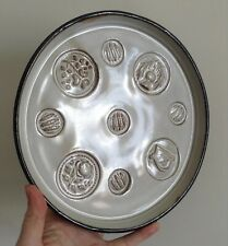 Rare Vintage Stephen Pearce Shanagarry Pottery White Glaze Small 5 Stamp Tray