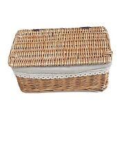 Wicker storage baskets with lid / Beige