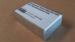 (67,50 EUR/m) Aluminium Rest 60x30x100 mm Flachmaterial Alu