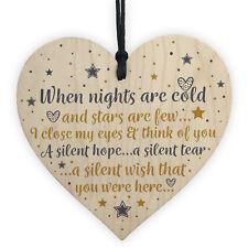 Christmas Tree Decoration in Memory Mum Dad Nan Memorial Heart Bauble Gifts