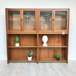 G Plan Fresco Teak Retro Display Cabinet Sideboard Bookcase Unit
