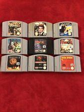 Job Lot Of 9 Nintendo 64 Games 007 ect