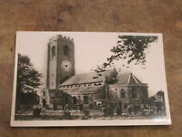 Lincolnshire Real photographic postcard - Coningsby Church East Lindsey