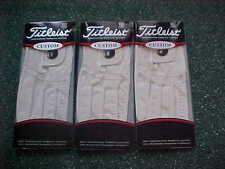 New 3 Titleist Custom Womans Magnetic Marker Golf Gloves Large, Left Handed Lady