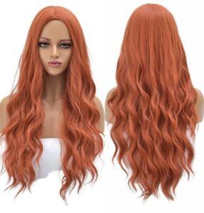 24inch Cosplay wig no lace Heat resistant hair Women Light orange