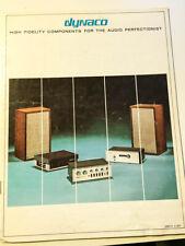 Dynaco / Dynakit Product Brochure 1971 15pgs Stereo 70 A-25 ++*Original*