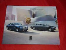 ROLLS-ROYCE Ghost + Ghost extended wheelbase Prospekt Brochure von 2013