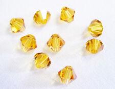 25 Swarovski Crystal Beads # 5301 Topaz 6MM