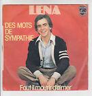 """LENA Vinyle 45T SP 7"""" DES MOTS DE SYMPATHIE - FAUT-IL MOURIR D'AIMER - PHILIPS"""
