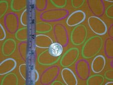 "Orange cotton fabric multi color rings material fabric traditions 2Yards 10""x45"""