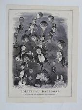 PUNCH cartoon 1845 an historical parallel , elizabeth 1580