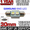 30mm SAMSUNG 2 SMD LED 269 C5W SV8 CANBUS NO ERROR WHITE NUMBER PLATE LIGHT BULB