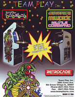 Team Play 2002 Original NOS Arcade Flyer Centipede Millipede Missile Command