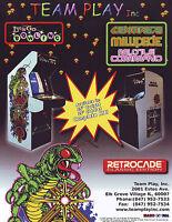 Team Play 2002 Original NOS Arcade Flyer Centipede Millipede Missile Command