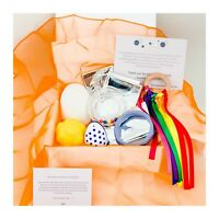 Baby Sensory Box – Rainbow; Infant development play toys gift, new baby gift