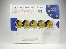 *** 2 Euro Gedenkmünzenset Deutschland 2007 PP Römische Verträge Münzen ***