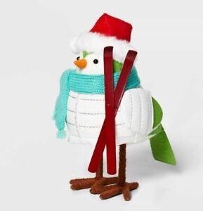 NEW 2020 White Puffer Jacket Powell Ski Holiday Bird Figurine Wondershop Target