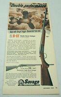 1955 Print Ad Savage 220 Single Barrel Shotgun,Fox Model B-ST Double Barrel
