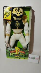 """Mighty Morphin Power Rangers White Ranger Tommy Electronic Talking 18"""" in box"""