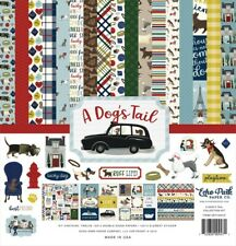 Echo Park - A Dog's Tail 12x12 Scrapbook Kit Papers + Stickers Puppy Family