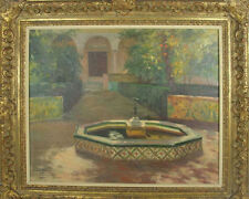 C3-034 ANTONI TORRES FUSTER. OIL ON CANVAS. PATIO THE ALHAMBRA. 1926.