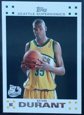 2007-08 Topps White Kevin Durant Rookie #2 of 14 RC Supersonics NRMT+ Warriors